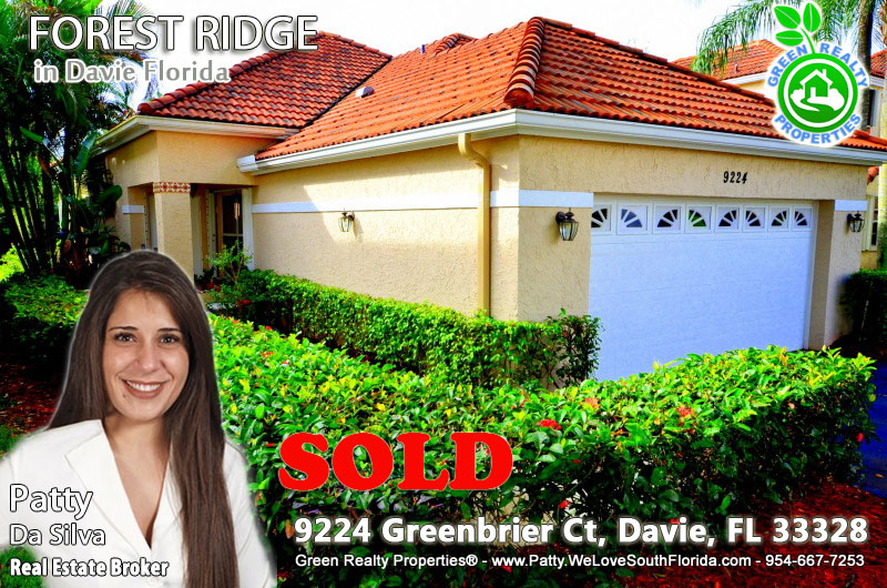 forest ridge, davie homes for sale, Patty Da Silva listings, Green Realty Properties listings, homes in davie with pool, pool homes in South Florida