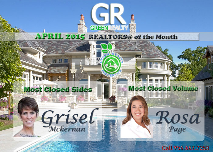 Green Realty Properties April 2015 REALTORS of the Month
